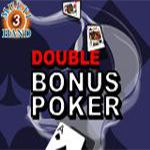Double Bonus Poker (3 Hands)